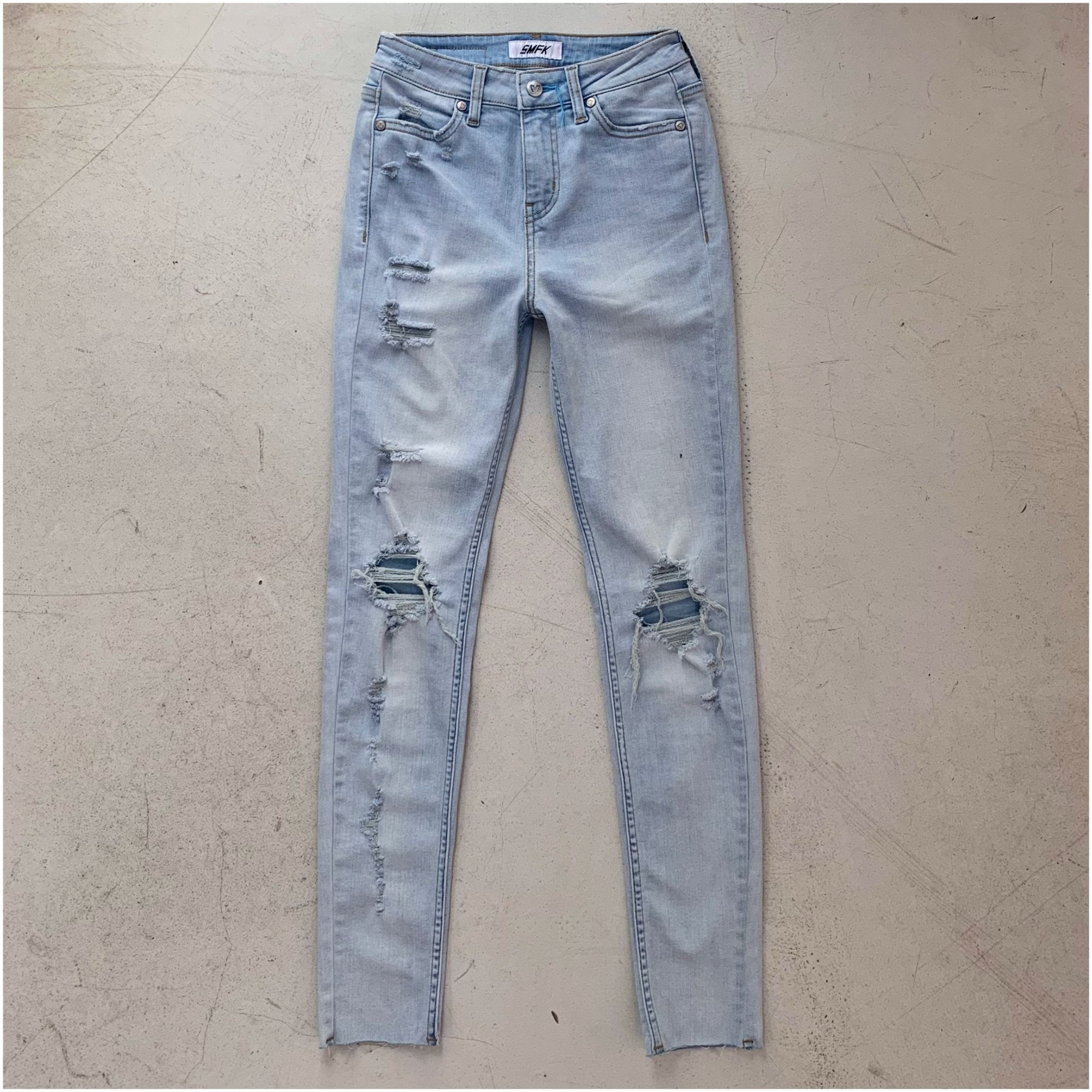SMFK Pencil Jeans Blue | MADA IN CHINA