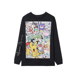 AIMME SPARROW Pikachu Sweater Black | MADA IN CHINA