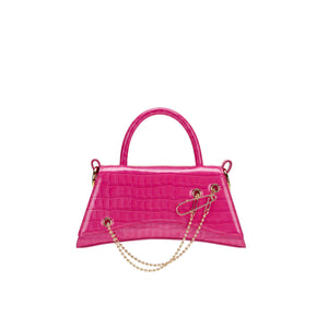 LOST IN ECHO Pink Barrett Metail Chain Bag Small | MADA IN CHINA
