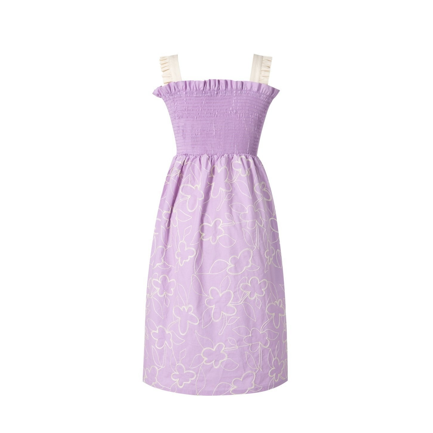 VIAS HERLIAN Pink Frilled Dress | MADA IN CHINA