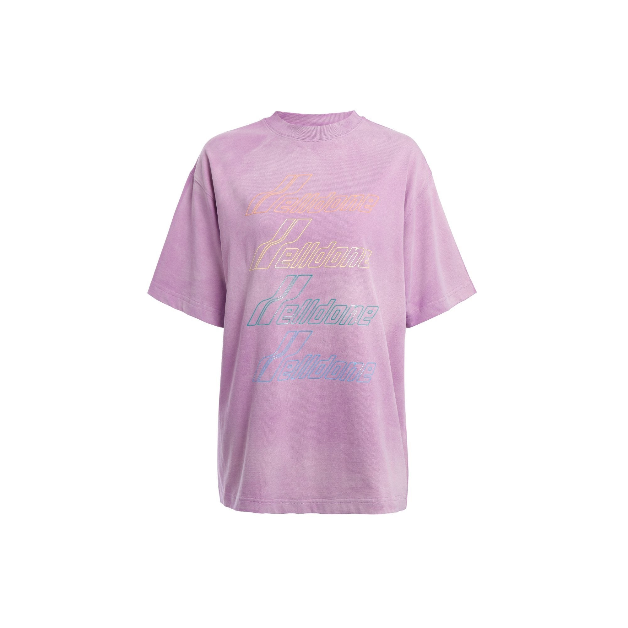 WE11DONE Pink Front Logo T-Shirt | MADA IN CHINA