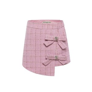 EIMISMOSOL Pink Knitted Skirt | MADA IN CHINA