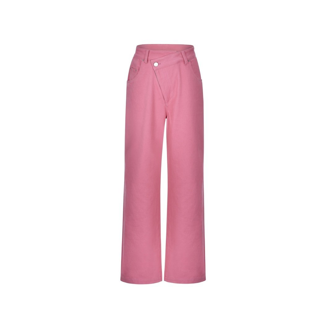 THREE QUARTERS Pink Misplaced Pants | MADA IN CHINA