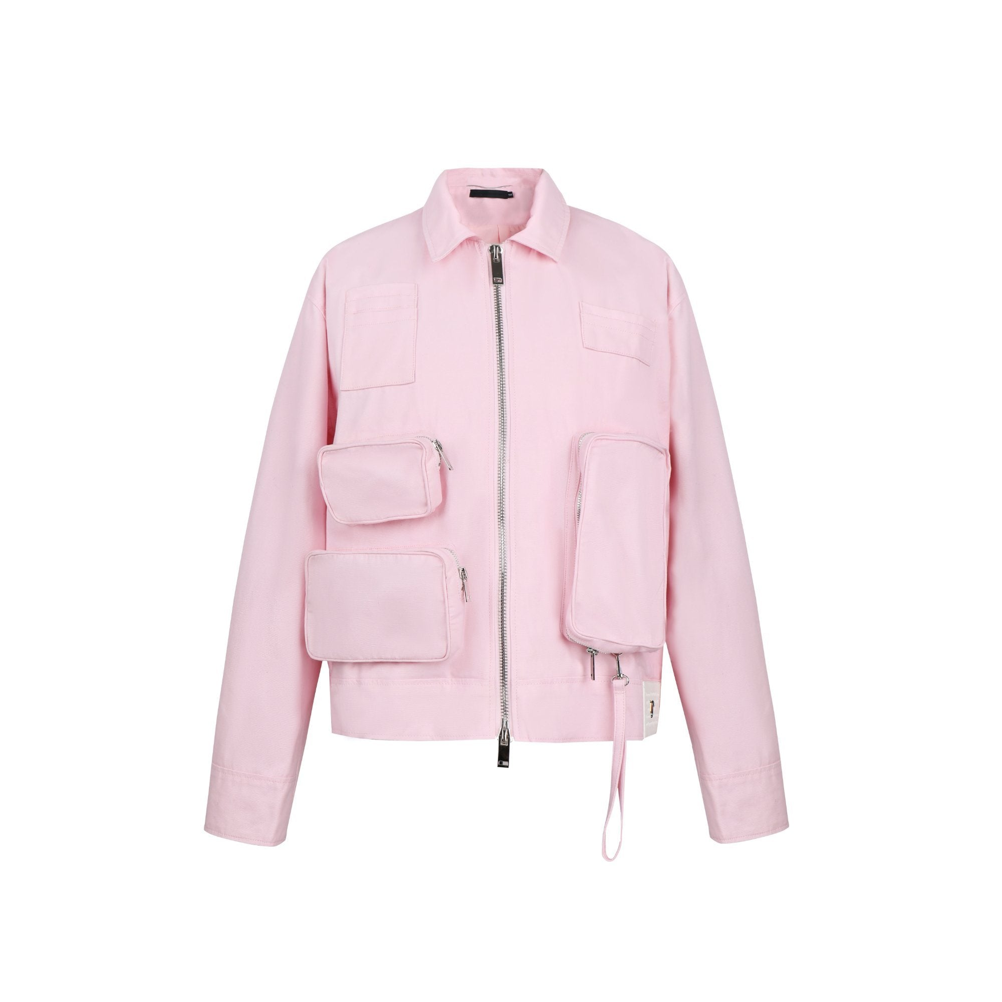 ONOFFON Pink Pocket Leather Jacket | MADA IN CHINA