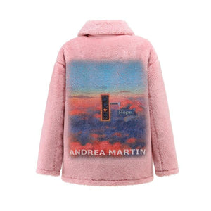 ANDREA MARTIN Pink Sunset Fur Jacket | MADA IN CHINA