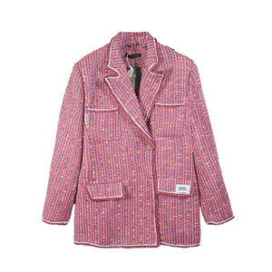 ONOFFON Pink Woven Lead Jacket | MADA IN CHINA