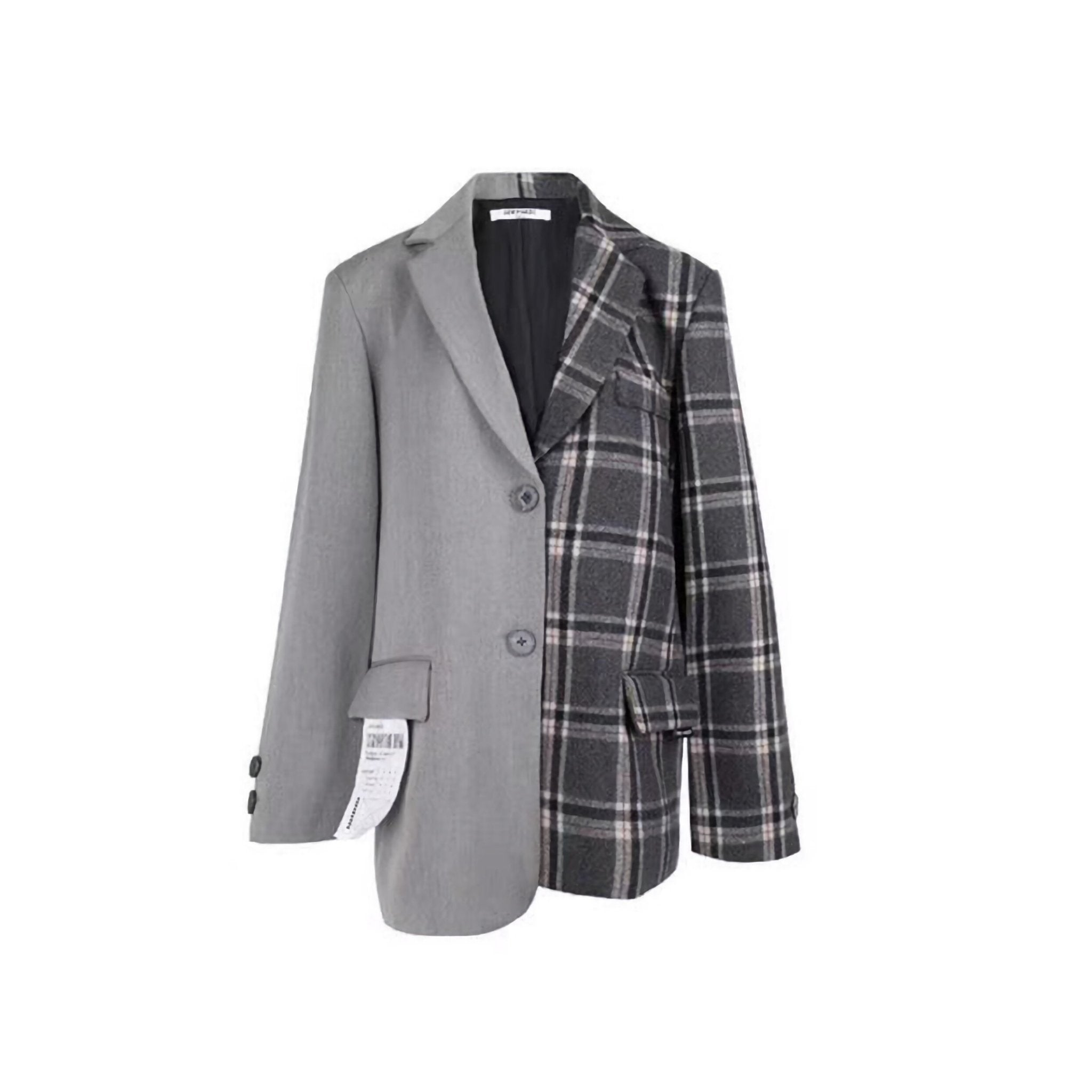 13 DE MARZO Plaid Blazer Jacket | MADA IN CHINA