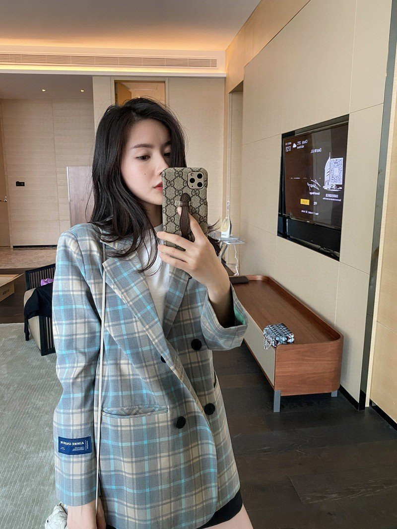 AIMME SPARROW Plaid Blazer Jacket | MADA IN CHINA