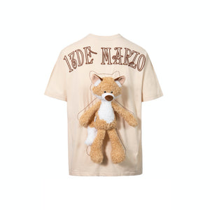 13 DE MARZO Plush Fox Toy T-Shirt Dew | MADA IN CHINA
