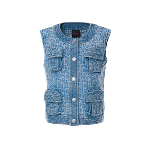 Laurence & Chico Pocket Vest Light Blue | MADA IN CHINA