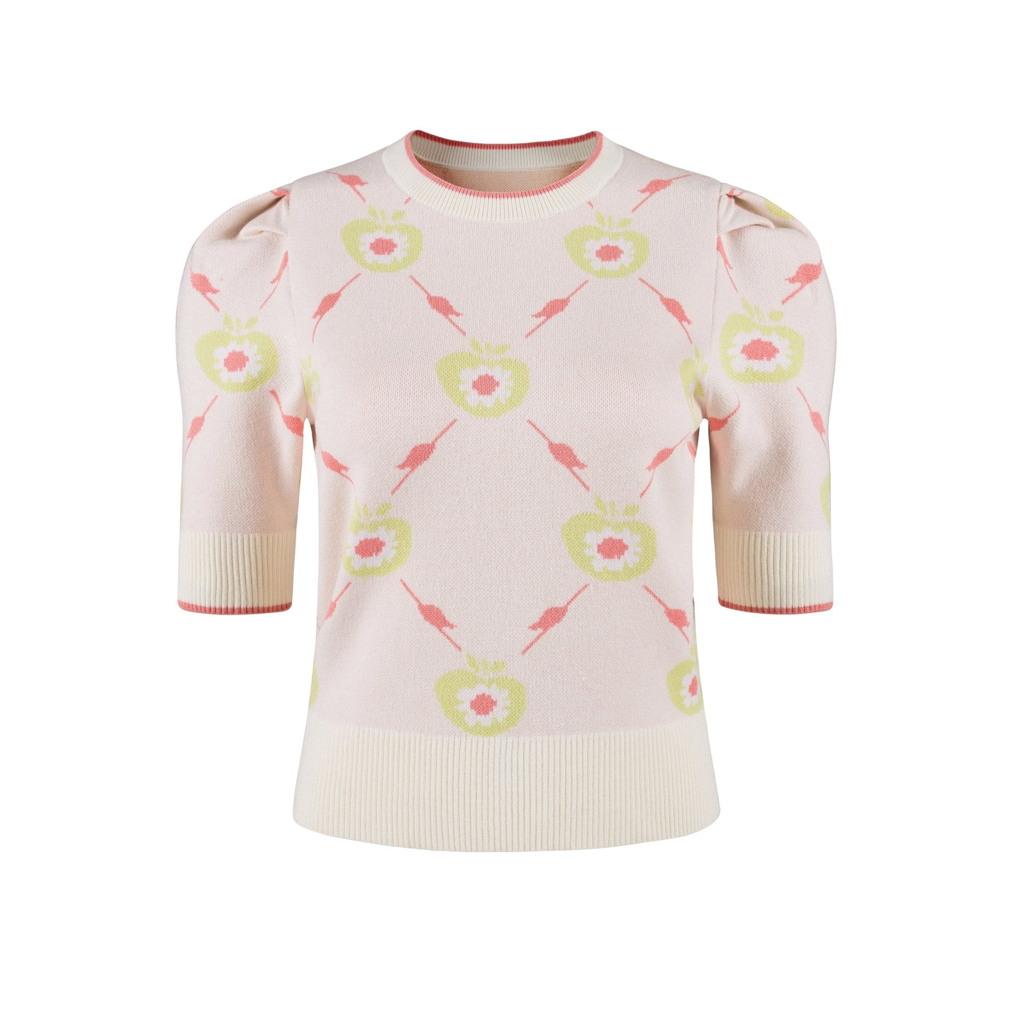 HERLIAN Printed Apple Short-Sleeve Sweatshirt | MADA IN CHINA