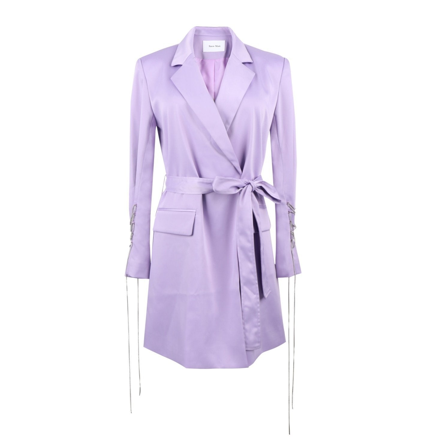 SASA MAX Purple Belt Coat | MADA IN CHINA