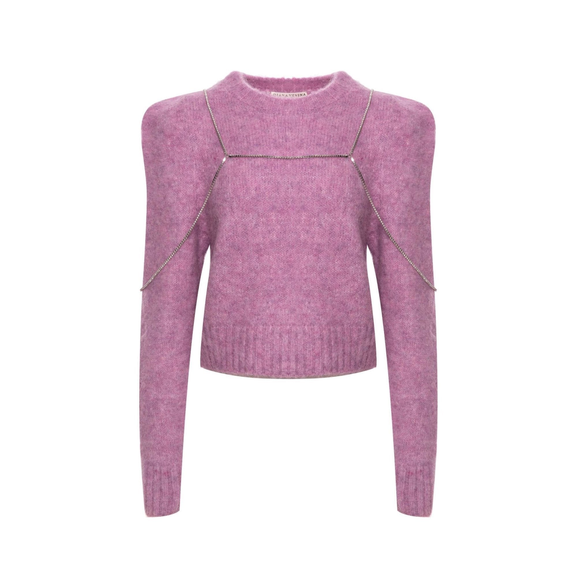 DIANA VEVINA Purple Chain Sweatshirt | MADA IN CHINA