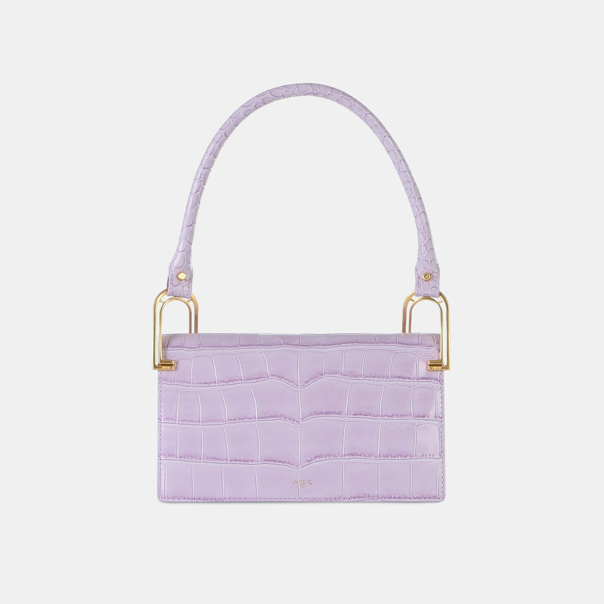 APEDE MOD Purple Croc Deco Line Shoulder Bag | MADA IN CHINA