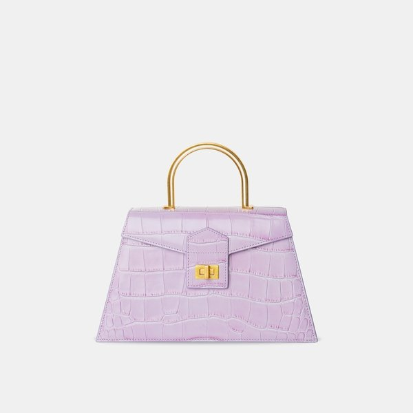APEDE MOD Purple Croc Large Le Book | MADA IN CHINA