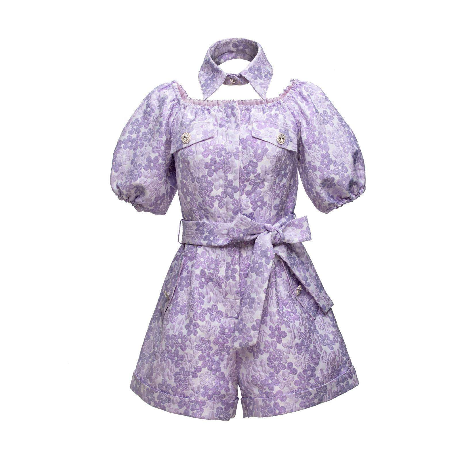 WARM AID Purple Jacquard Bodysuits | MADA IN CHINA