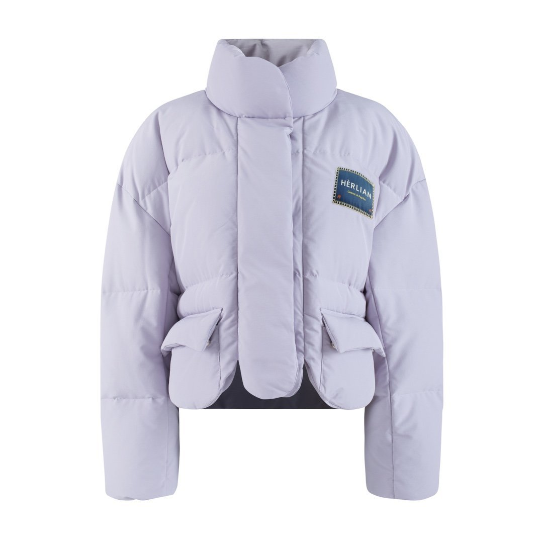 HERLIAN Purple Logo Padded Jacket | MADA IN CHINA
