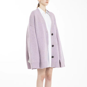 2208M DECAF Purple Oversized Cardigan | MADA IN CHINA