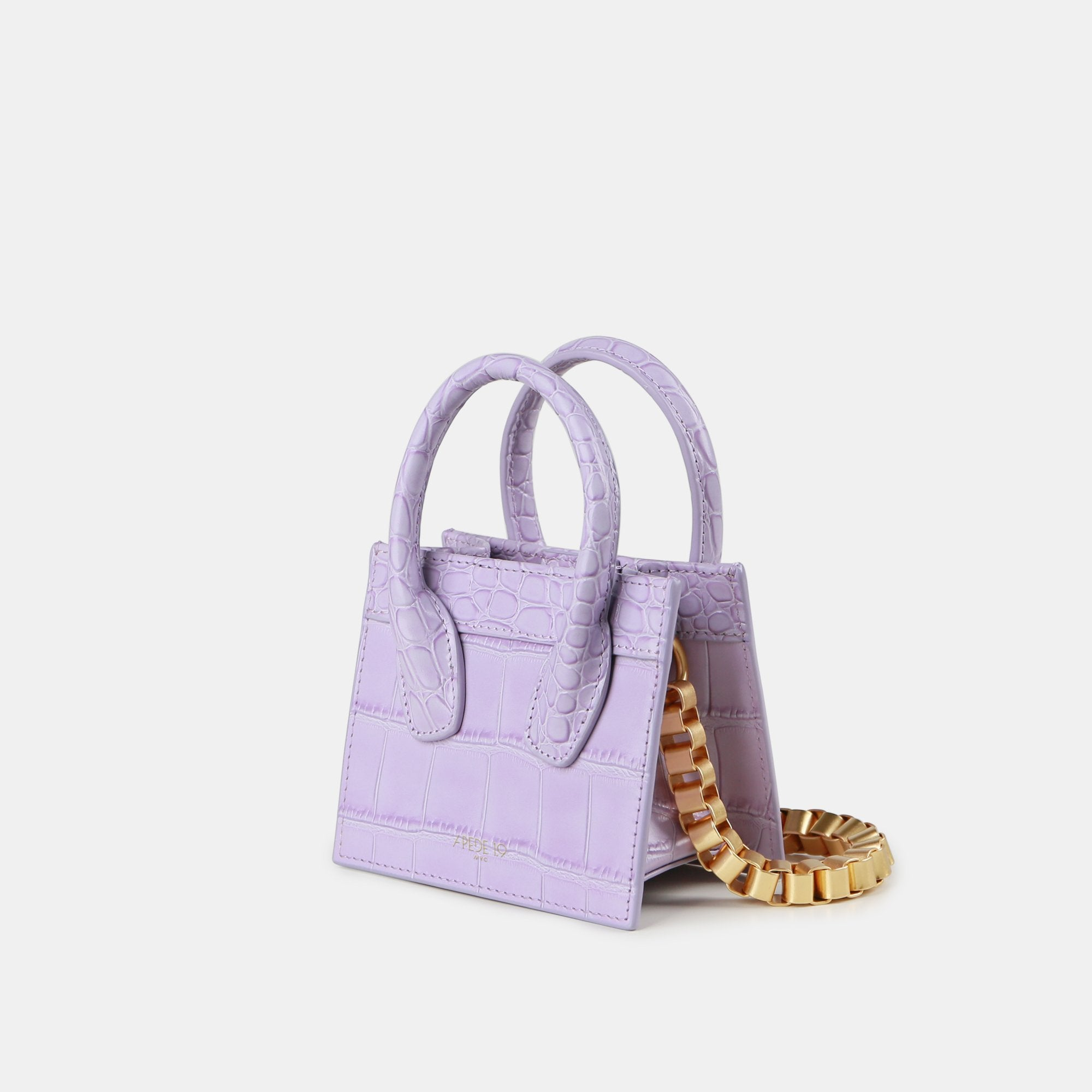 APEDE MOD Purple Poker Face Mini Tote | MADA IN CHINA