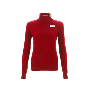 WARM AID Red Cashmere Turtleneck Sweater | MADA IN CHINA