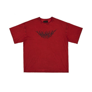 MAYHEM Red Lightning Logo Print Tee | MADA IN CHINA