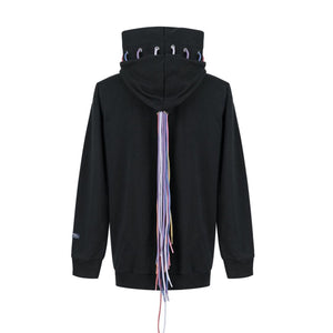 RAINO BARTON Reflective Multi-Cord Hoodie Black | MADA IN CHINA