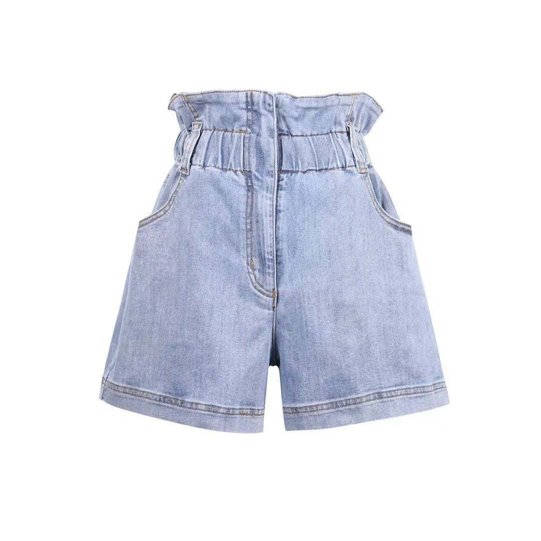 SASA MAX Ruffled Shorts Blue | MADA IN CHINA
