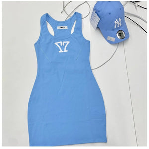 SMFK Shadow Tennis Dress Sky Blue | MADA IN CHINA
