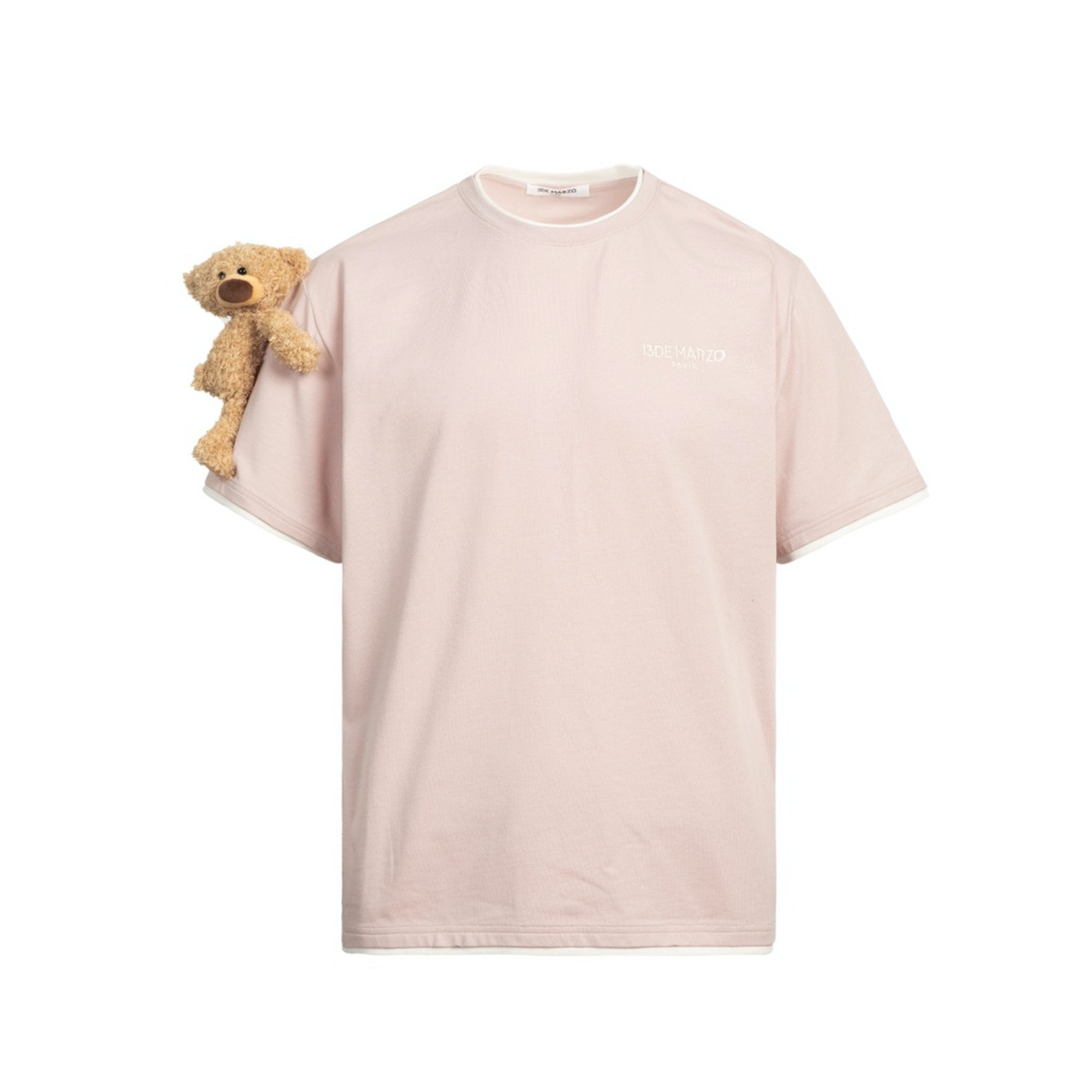 13 DE MARZO Short Sleeve Teddy Bear Tee Pearl | MADA IN CHINA