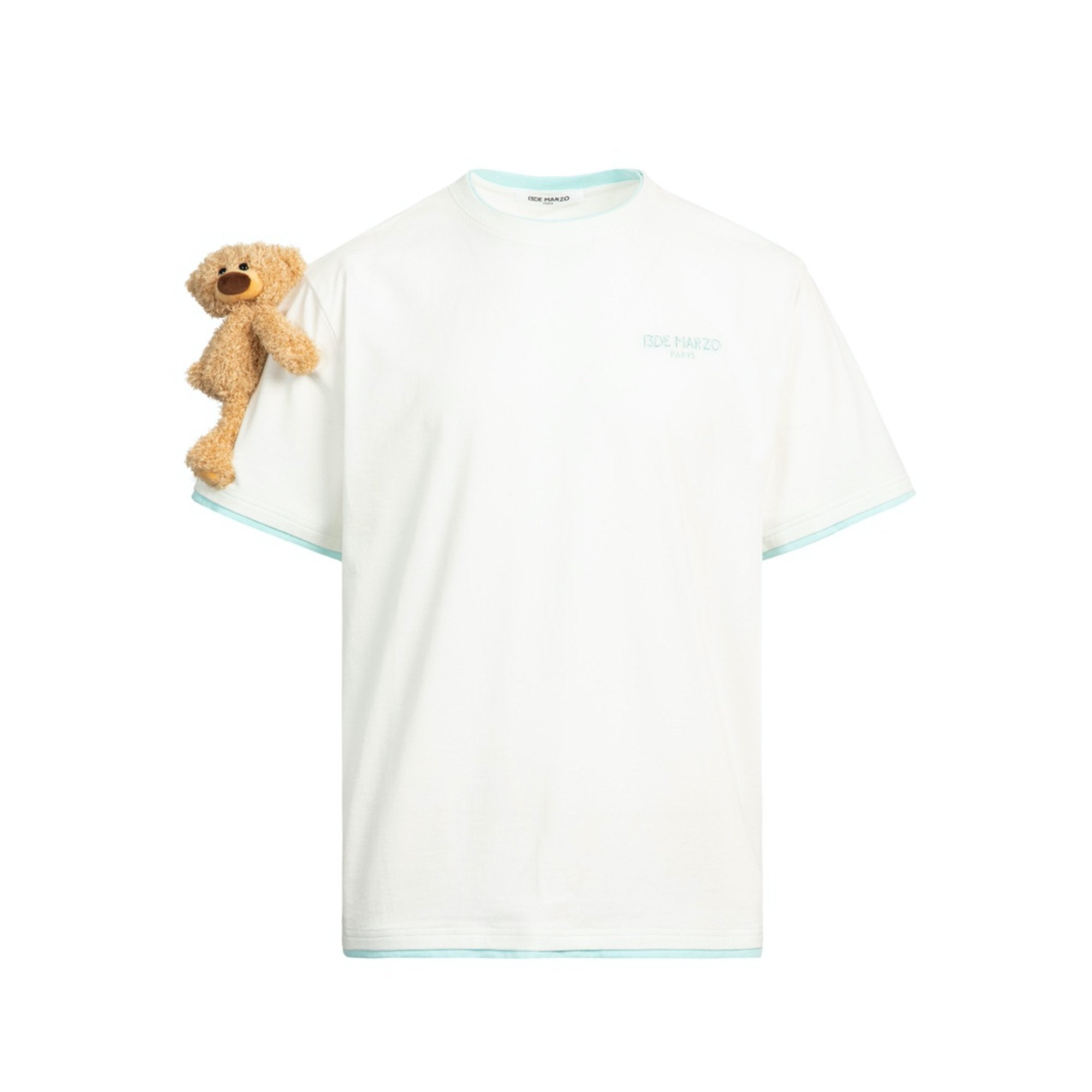 13 DE MARZO Short Sleeve Teddy Bear Tee White | MADA IN CHINA