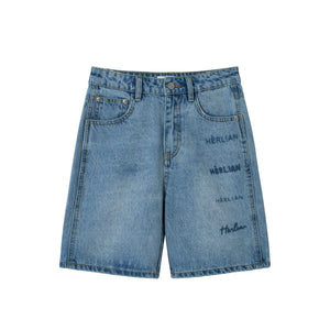 HERLIAN Signature Denim Shorts | MADA IN CHINA