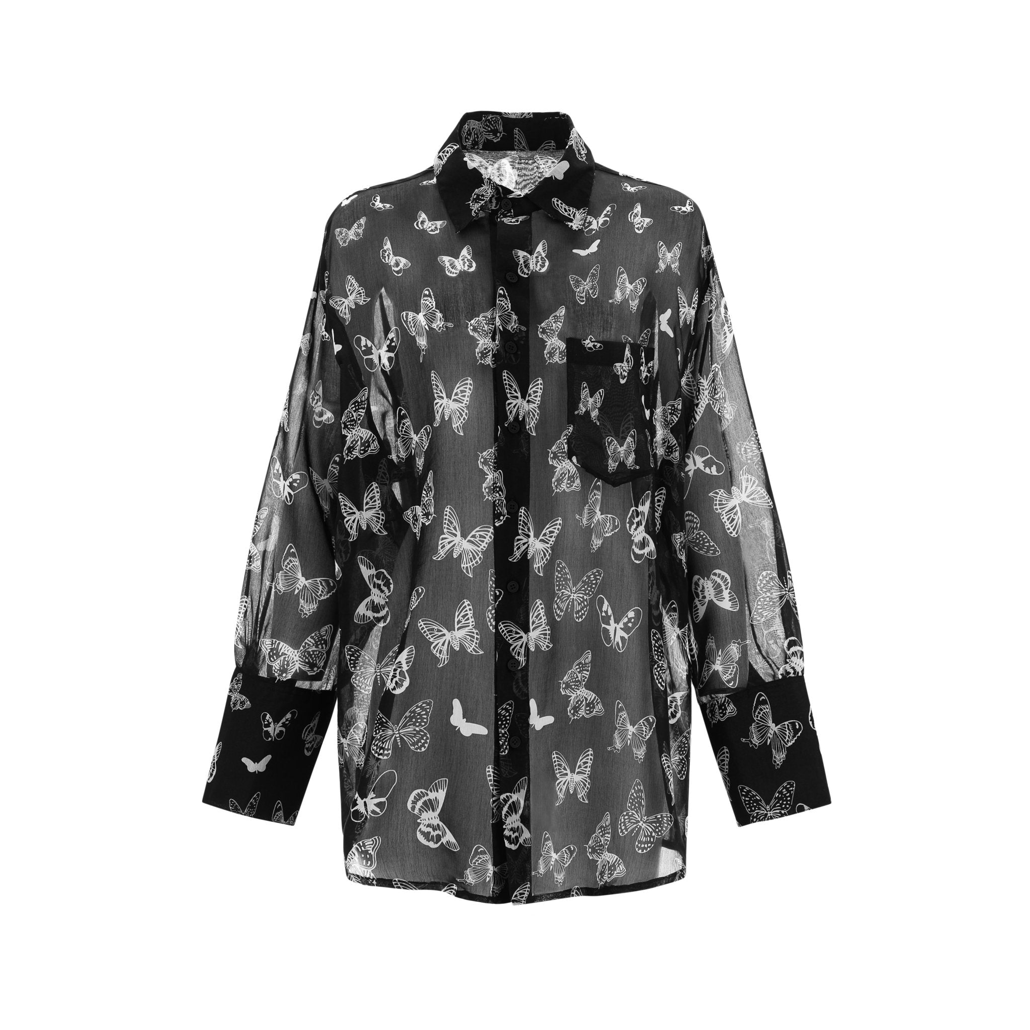WARM AID Silk Butterfly Shirt | MADA IN CHINA