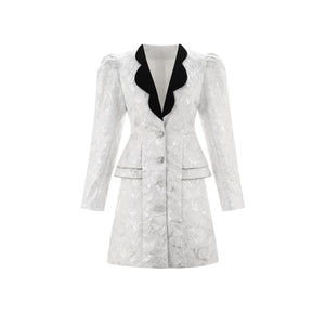 WARM AID Silver Embroidered Jacket | MADA IN CHINA