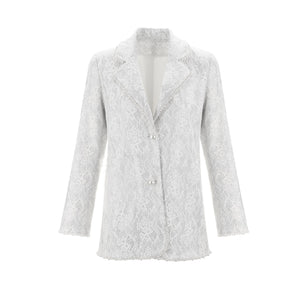 WARM AID Silver Lace Suit | MADA IN CHINA