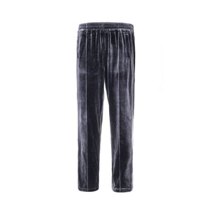 GALLIANO LANDOR Silver Velvet Pants | MADA IN CHINA