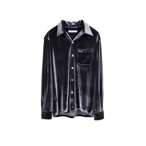 GALLIANO LANDOR Silver Velvet Shirt | MADA IN CHINA