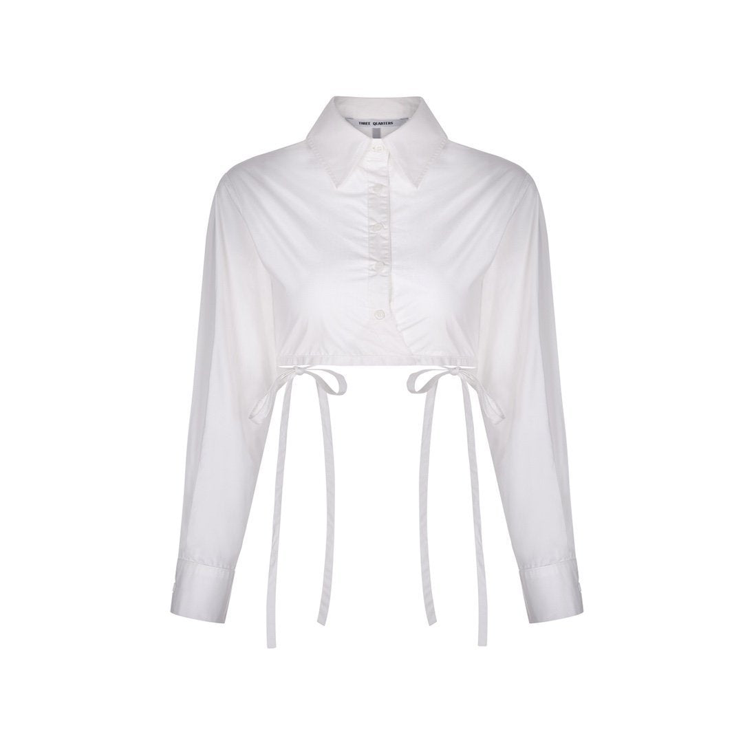 THREE QUARTERS Strap Shirt White | MADA IN CHINA