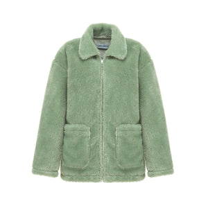 ANDREA MARTIN Sunset Wool Jacket Green | MADA IN CHINA