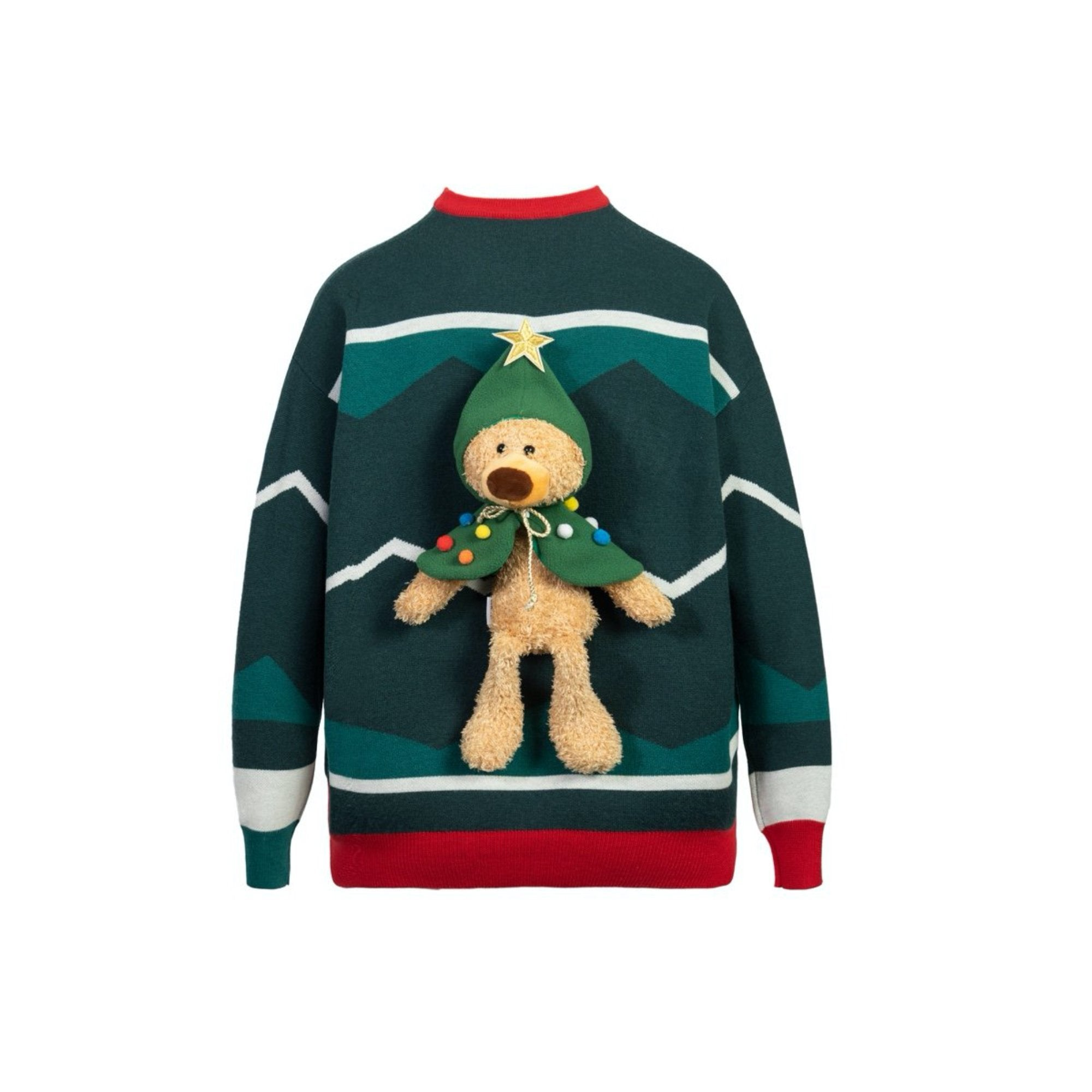 13 DE MARZO Teddy Bear Christmas Costume Sweater Christmas Tree | MADA IN CHINA