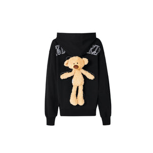 13 DE MARZO Teddy Bear Hoodie Black | MADA IN CHINA