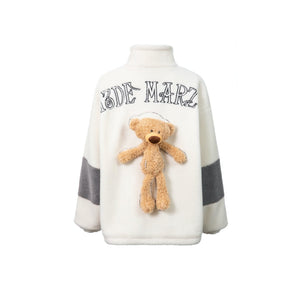 13 DE MARZO Teddy Bear Lamb Wool Coat White | MADA IN CHINA