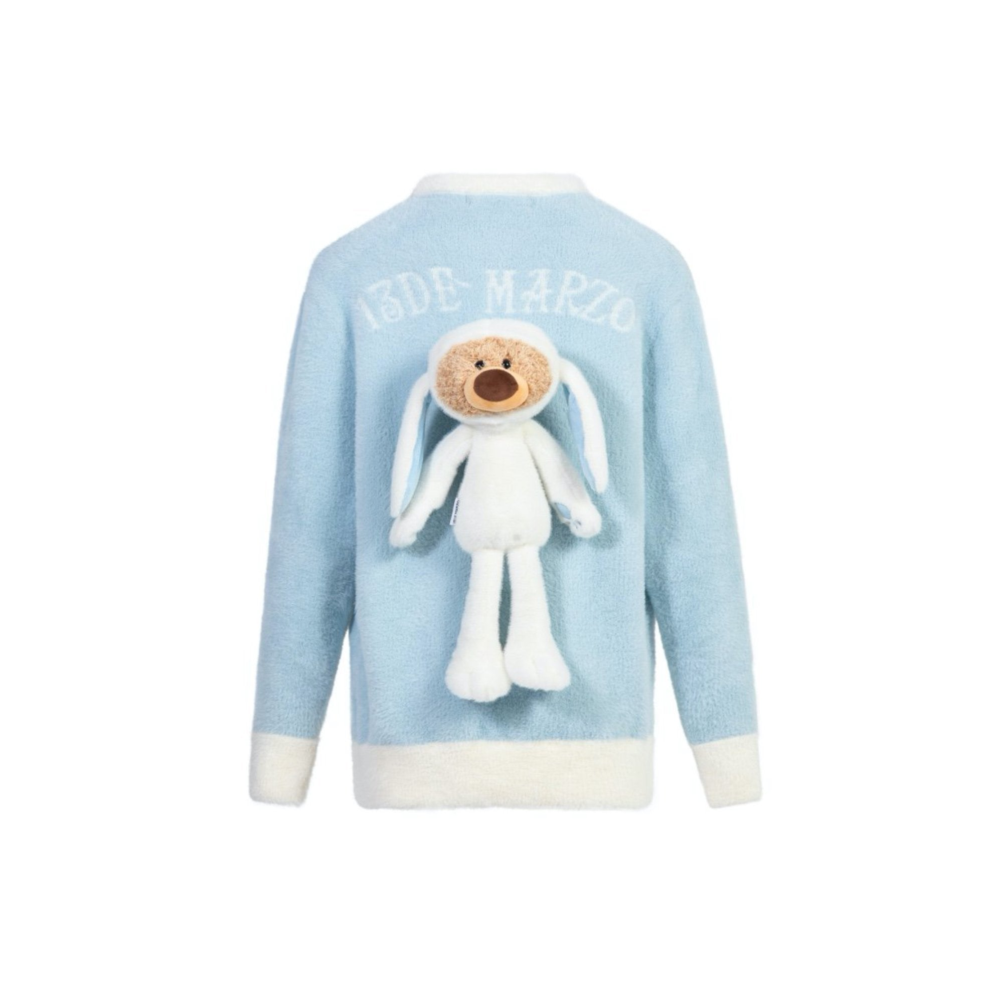 13 DE MARZO Teddy Bear Rabbit Costume Cardigan Blue | MADA IN CHINA