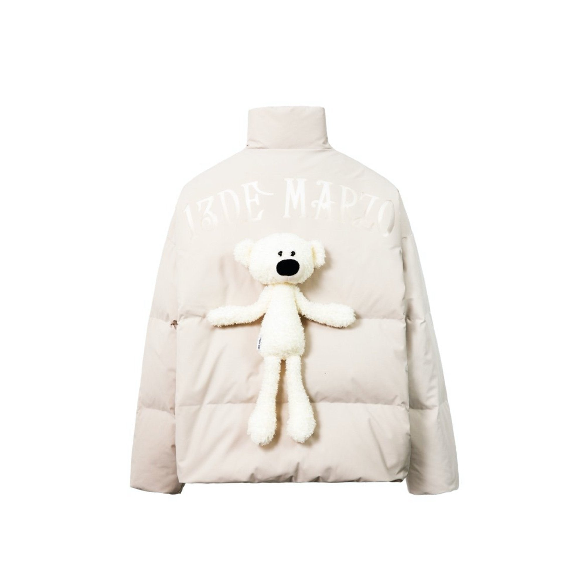 13 DE MARZO Teddy Bear Translucence Down Jacket Bone White | MADA IN CHINA