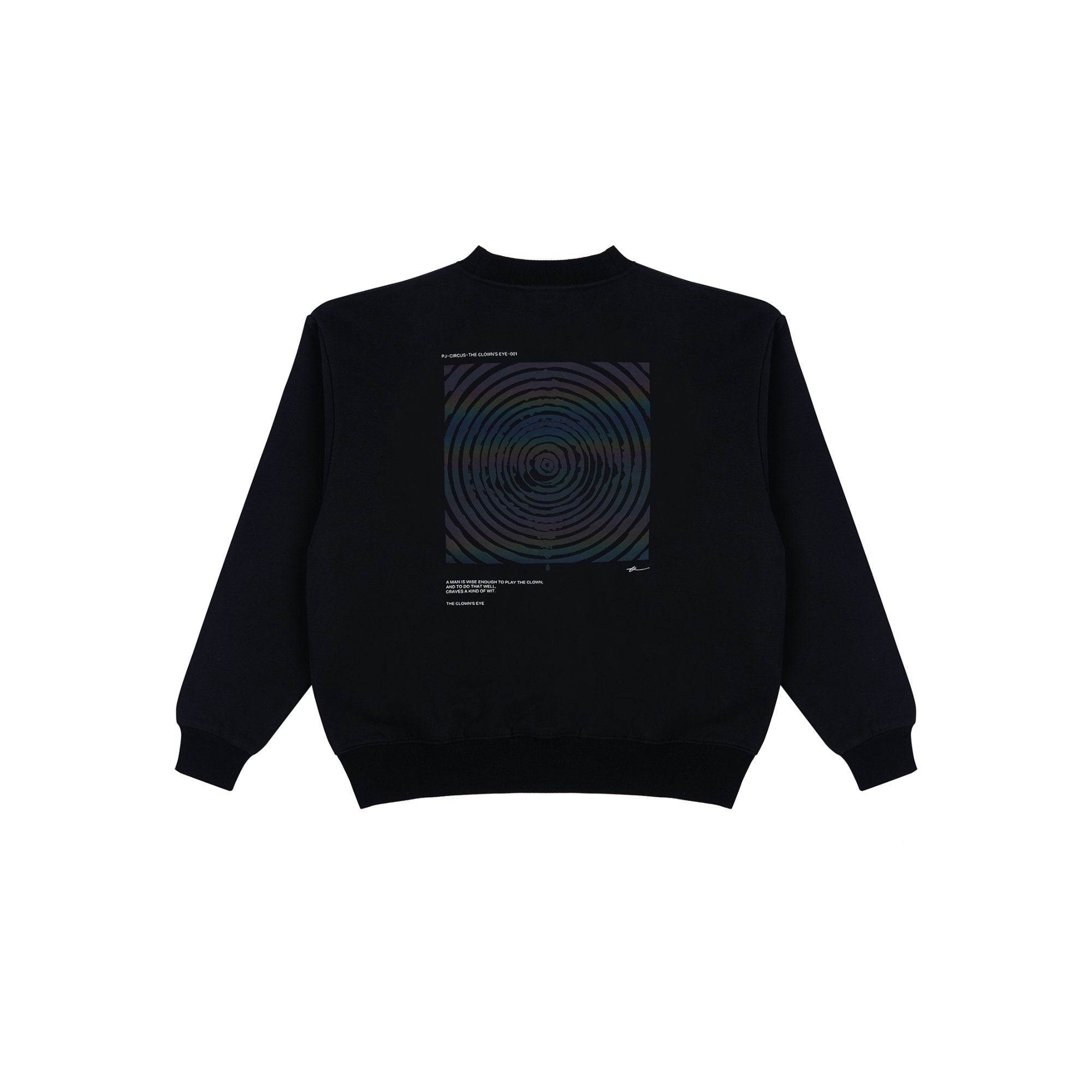 PROJECTION The Clown's Eye Sweatshirt Black | MADA IN CHINA