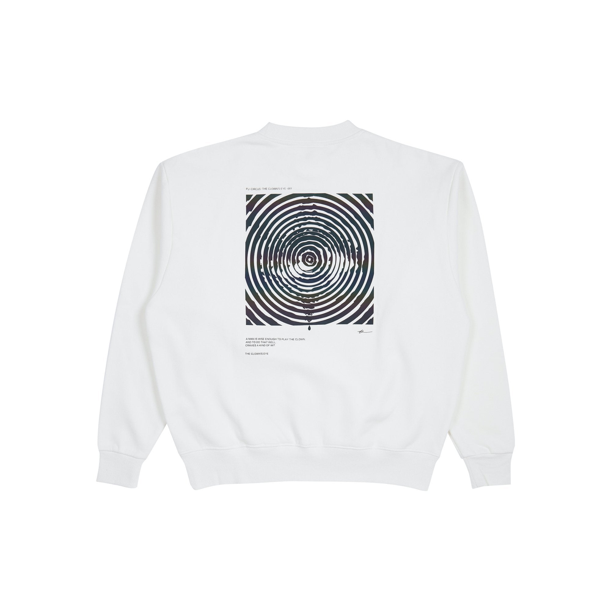 PROJECTION The Clown's Eye Sweatshirt White | MADA IN CHINA