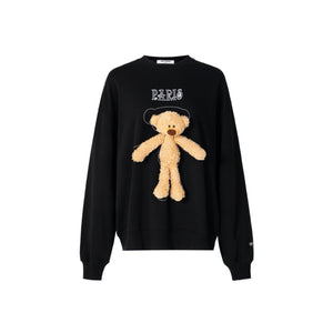 13 DE MARZO Tiny Teddy Bear Sweater Black | MADA IN CHINA