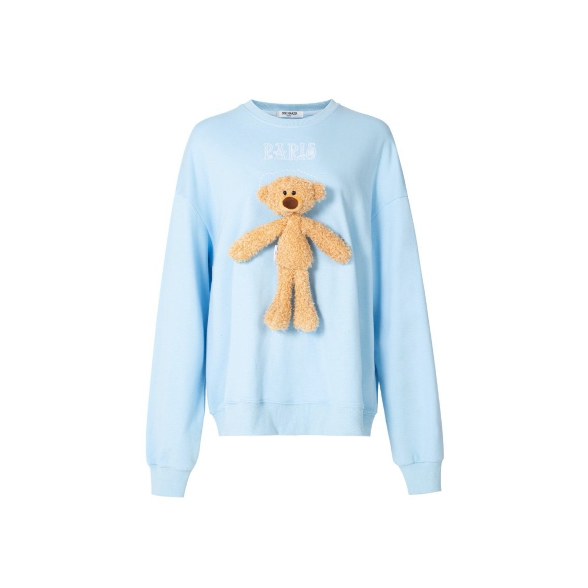13 DE MARZO Tiny Teddy Bear Sweater Blue | MADA IN CHINA
