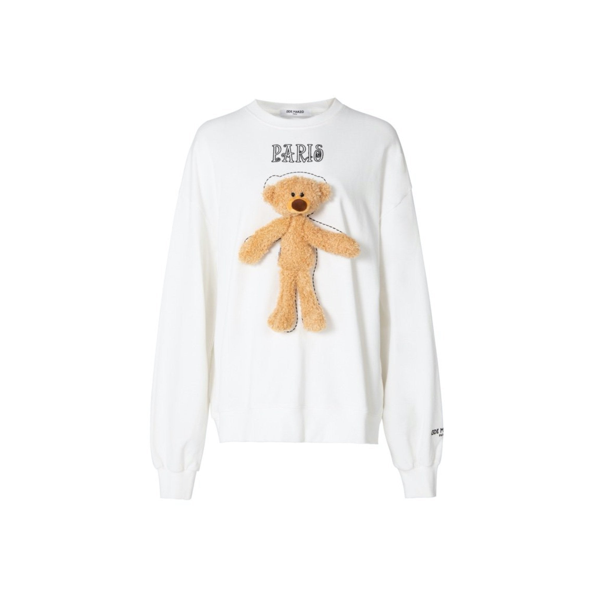 13 DE MARZO Tiny Teddy Bear Sweater White | MADA IN CHINA