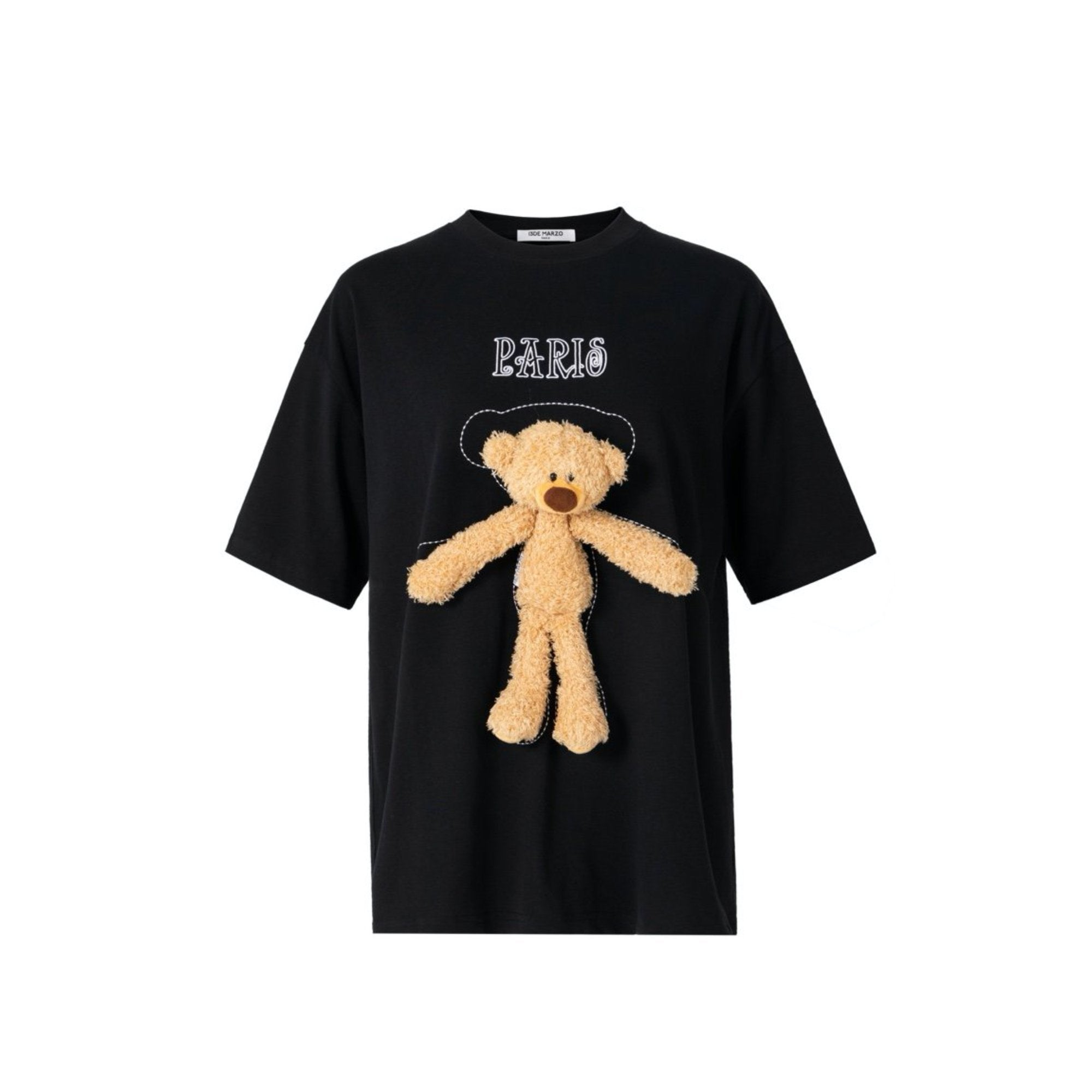 13 DE MARZO Tiny Teddy Bear Tee Black | MADA IN CHINA