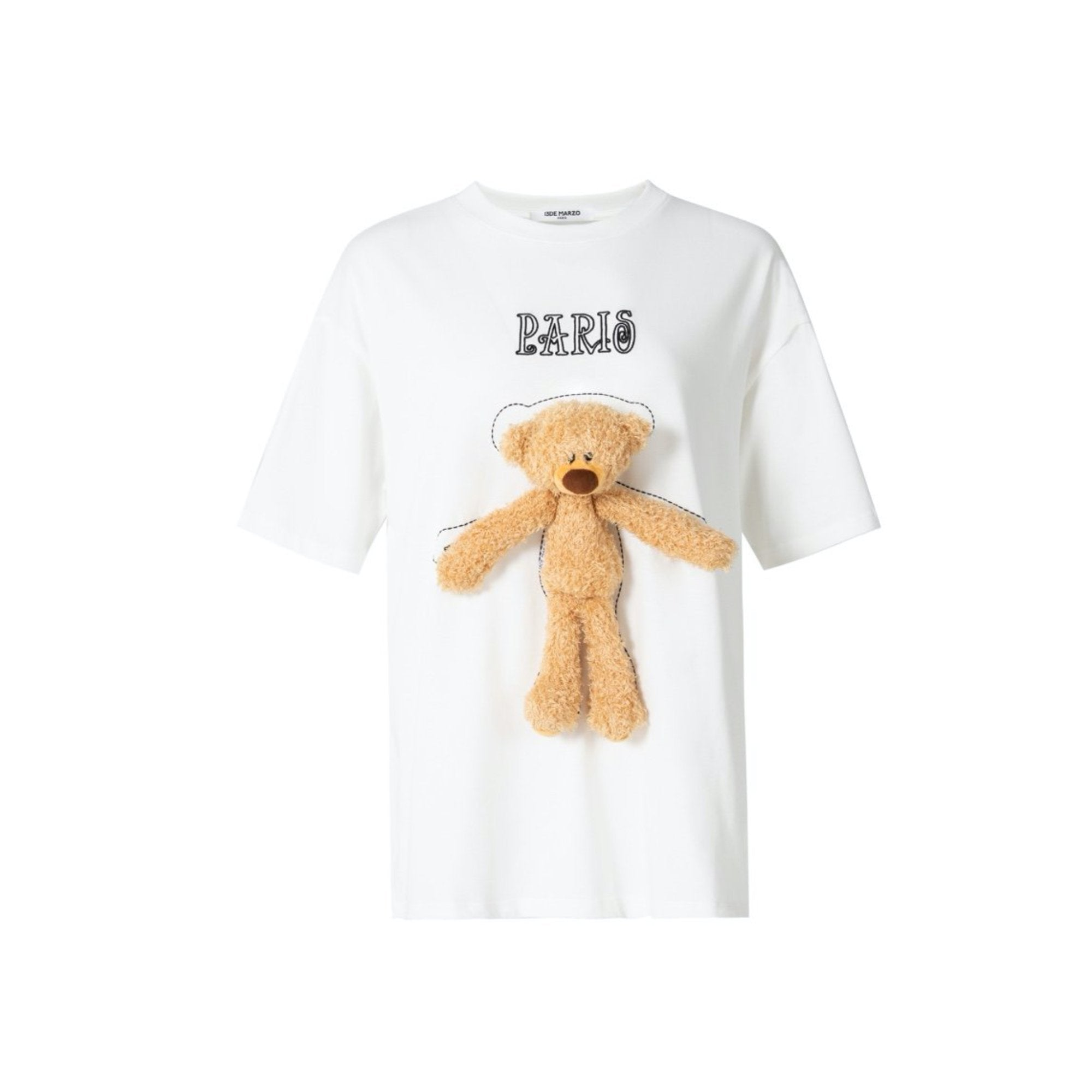 13 DE MARZO Tiny Teddy Bear Tee White | MADA IN CHINA